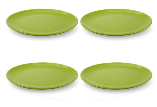 Friesland 4er Set Speiseteller, Happymix, Friesland, 25 cm Limette