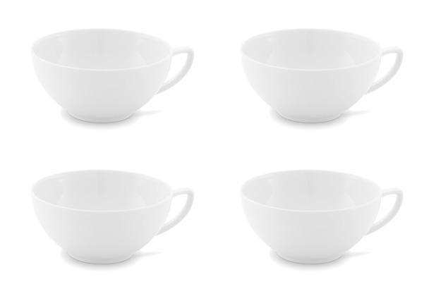 Friesland 4er Set Tee- Obertasse, Chai, Friesland weiß