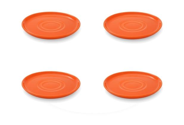 Friesland 4er Set Untertasse, Happymix, Friesland, 15 cm Orange