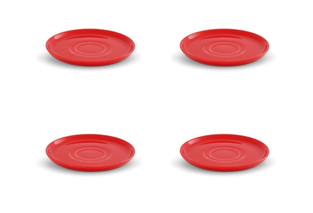 Friesland 4er Set Untertasse, Happymix, Friesland, 15 cm Rot