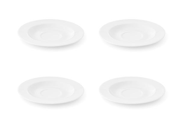 Friesland 4er Set Untertasse, La Belle, Friesland, 15,5 cm, 4 tlg., 4 Personen weiß