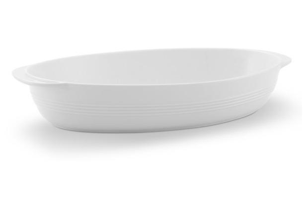Friesland Auflaufschale, oval, Jeverland, Friesland, 30/33,5 cm weiß
