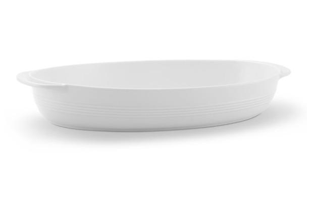 Friesland Auflaufschale, oval, Jeverland, Friesland, 33/37 cm weiß