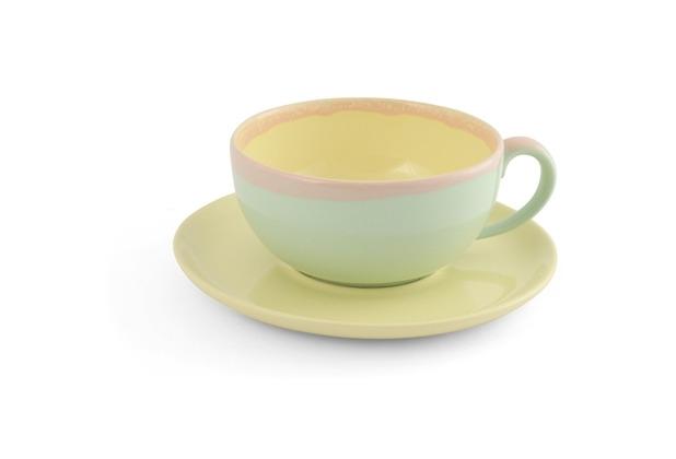 Friesland Cappuccino Tasse 2tlg. Gelb, Trendmix, 17cm, 0,25l, 2 tlg. KoriART