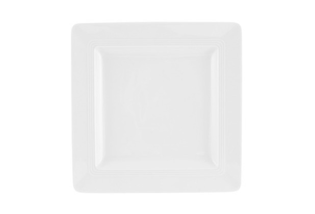 Friesland Frühstücksteller, eckig, Jeverland, Friesland, 21,5x21,5 cm weiß