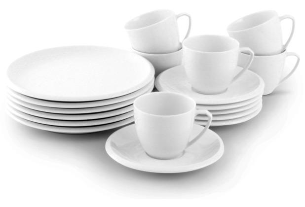 Friesland Kaffee-Service, Ecco, Friesland, 18 tlg., 6 Personen weiß