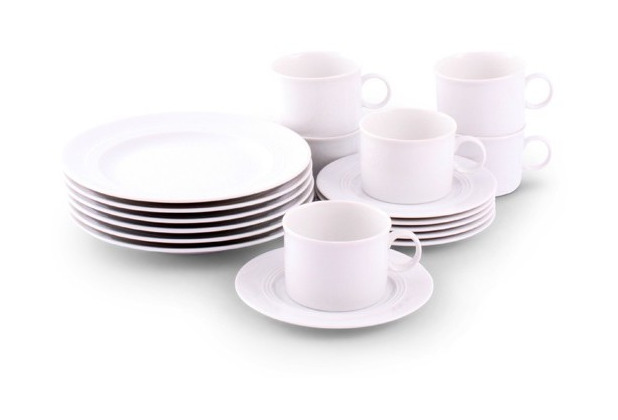 Friesland Jeverland Kaffee-Service für 6 Personen 18-teilig weiß