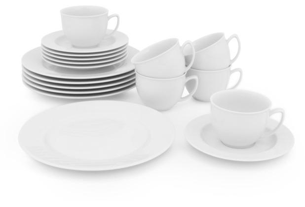 Friesland Venice Kaffee-Set für 6 Personen 18-teilig weiß