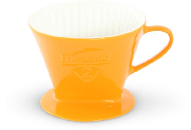 Friesland Kaffeefilter Gr. 2 Safrangelb Porzellan