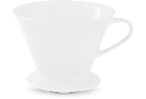 Friesland Kaffeefilter Gr. 4 Weiß Porzellan