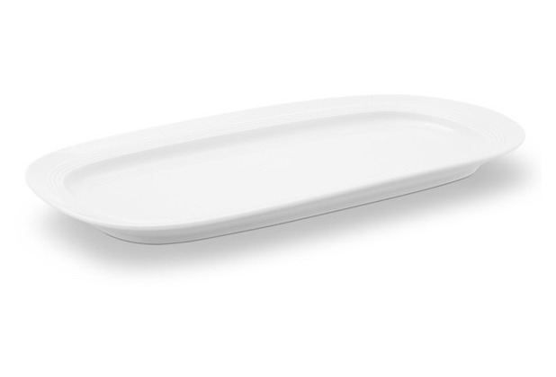 Friesland Kuchenplatte, oval, Jeverland, Friesland, 35 cm weiß