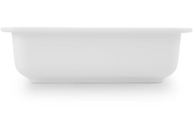 Friesland Lasagne- Form, Jeverland, Friesland, 21x13 cm weiß