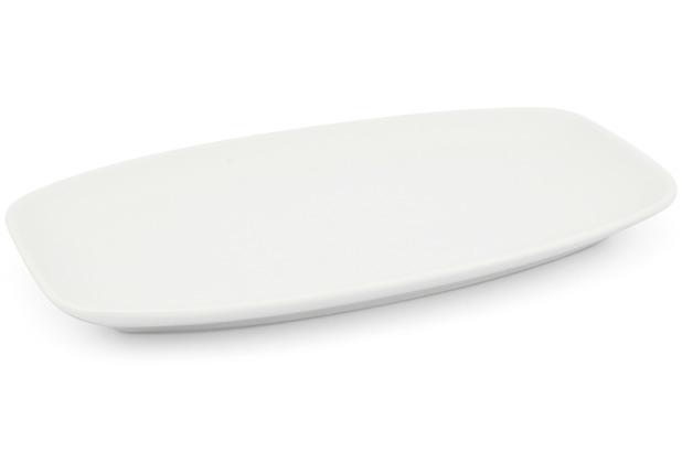 Friesland Platte 26 x 16cm Horizont Weiß