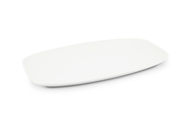 Friesland Platte 33 x 20cm Horizont Weiß