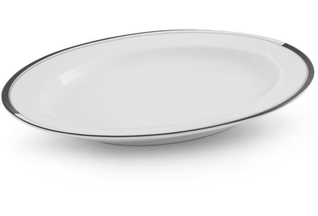 Friesland Platte, oval Black & White, La Belle, Friesland, 32 cm Black & White