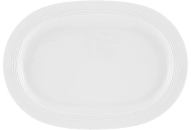 Friesland Platte, oval, Jeverland, Friesland, 32 cm weiß