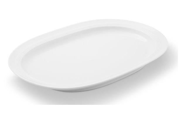 Friesland Platte, oval, Jeverland, Friesland, 36 cm weiß