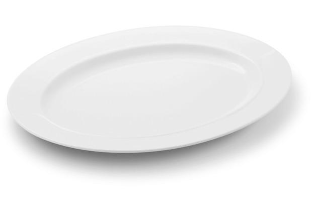 Friesland Platte, oval, La Belle, Friesland, 32 cm weiß