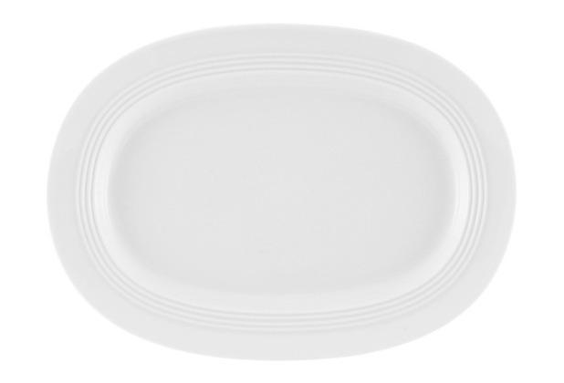 Friesland Platte / Unter. Sauciere, oval, Jeverland, Friesland, 24 cm weiß