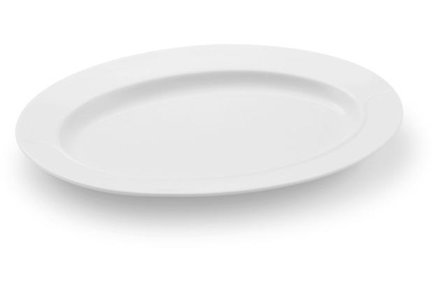 Friesland Platte / Unter. Sauciere, oval, La Belle, Friesland, 24 cm weiß
