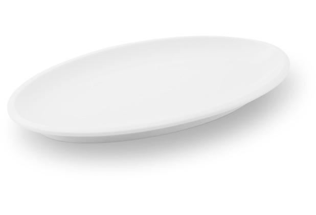 Friesland Platte/ Untert. Sauciere, oval, Ecco, Friesland, 26 cm weiß