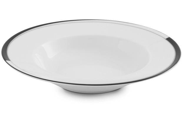 Friesland Suppenteller Black & White, La Belle, Friesland, 22 cm Black & White