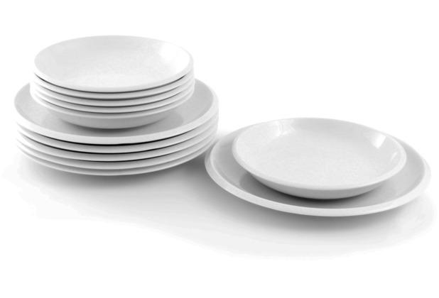Friesland Ecco Tafelservice für 6 Personen 12-teilig weiß