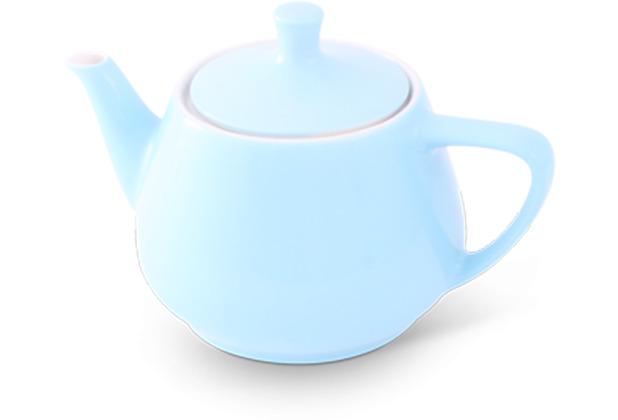 Friesland Teekanne 0,85l Pastellblau Utah Teapot Porzellan