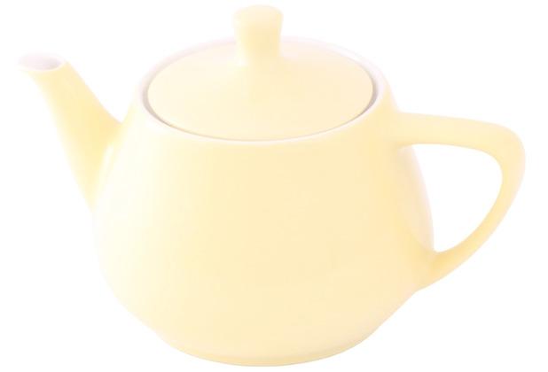 Friesland Teekanne 0,85l Pastellgelb Utah Teapot Porzellan