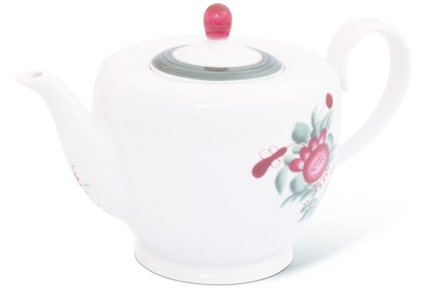 Friesland Teekanne 1,25l Atlantis Ostfriesische Rose Porzellan