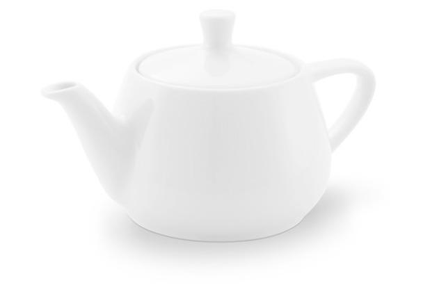 Friesland Teekanne Porzellan 0310, weiß Utah Teapot