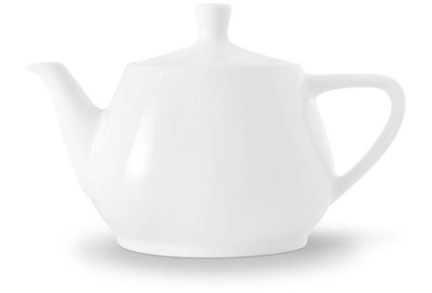 Friesland Teekanne Porzellan 0340, weiß