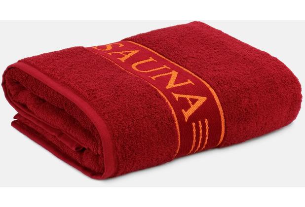 frottana möve Saunatuch Sauna ruby 80 x 200 cm