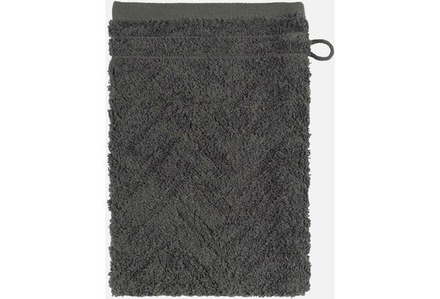 frottana Waschhandschuh Elegance graphit 20 x 15 cm