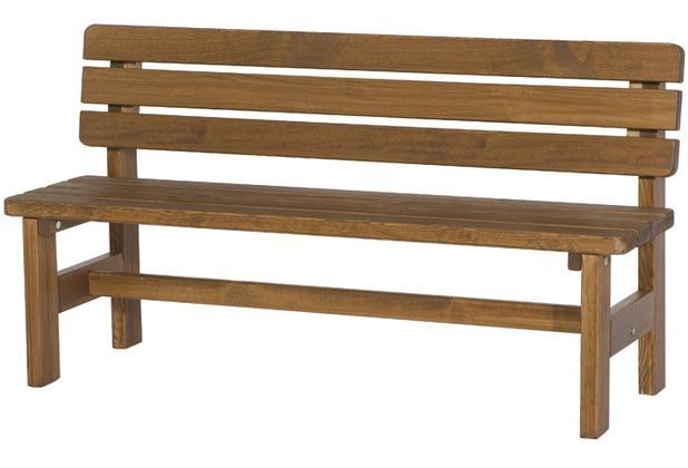 fun star tessin bank 150 cm massiv holz braun. Black Bedroom Furniture Sets. Home Design Ideas