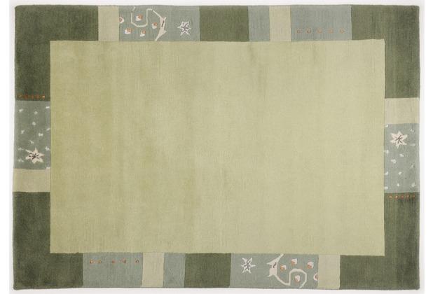 THEKO Nepalteppich Ganges 991 green 90 x 160 cm