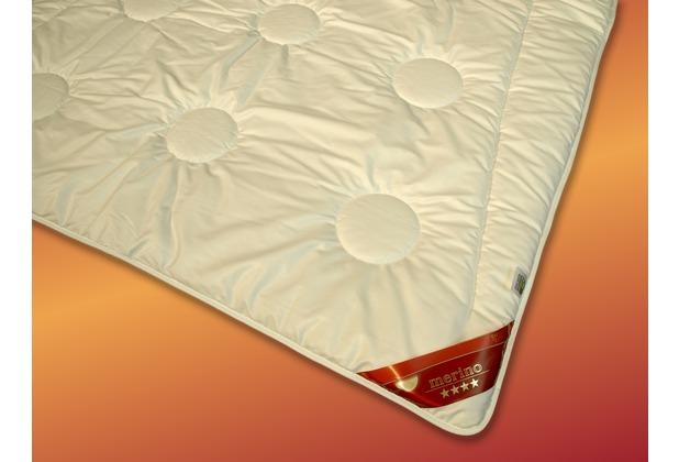 GARANTA Merino Leichtsteppbett, weiß Bettdecke 135x200 cm