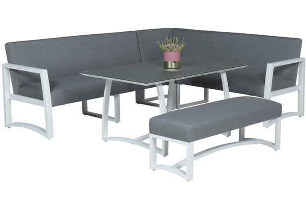 Garden Impression Aureum lounge dining set 4-dlg mat wit/ licht grau