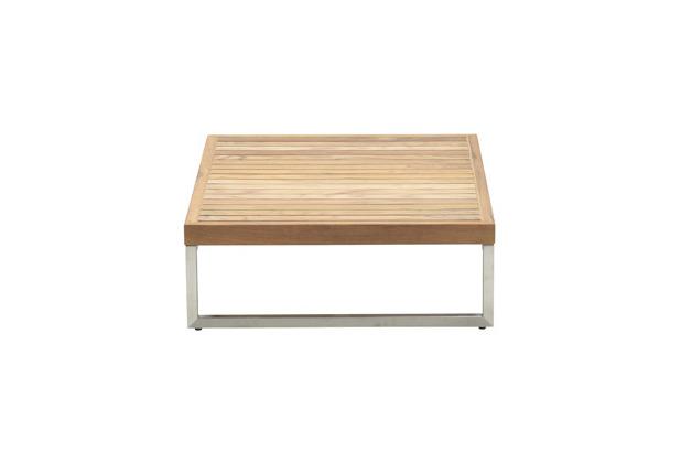 Garden Impression Belerive Tisch 70x90xH25 stainless steel/ teak top
