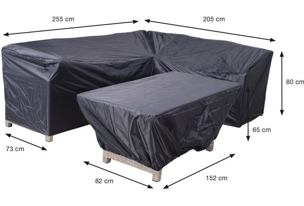 Garden Impression Coverit Lounge / Ess-Hacken 255/205x73xH80 & 152x82xH65