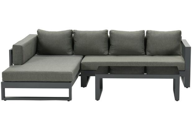 Garden Impression Esmee loungeset 3-dlg rechts carbon black/ mystic grey