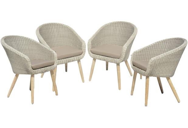 Garden Pleasure 4 x Stuhl ARVADA mit Auflage | eBay