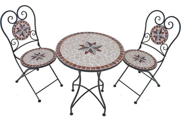 Garden Pleasure Balkonset 3tlg. Mosaik AMARILLO