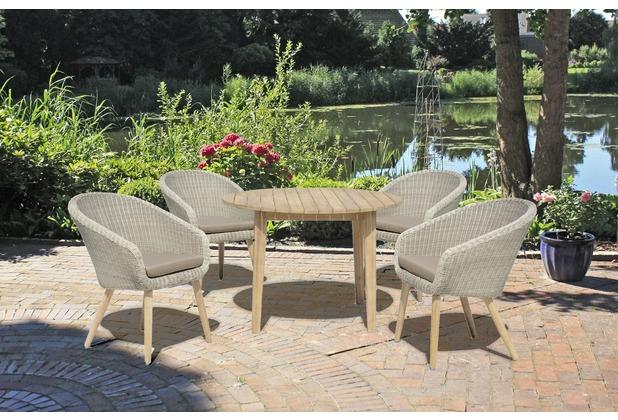 Garden Pleasure Gruppe ARVADA 5tlg. / 4x Stuhl 985146 / 1x Tisch ...