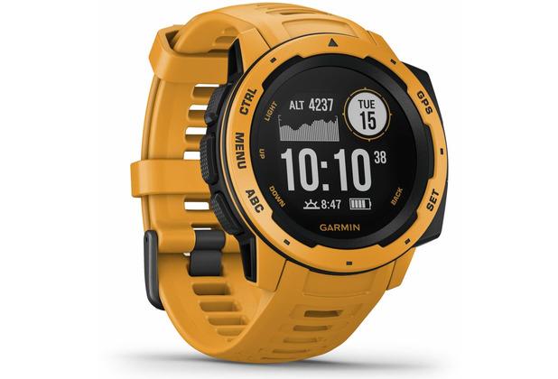Garmin Instinct Outdoor-Smartwatch gelb