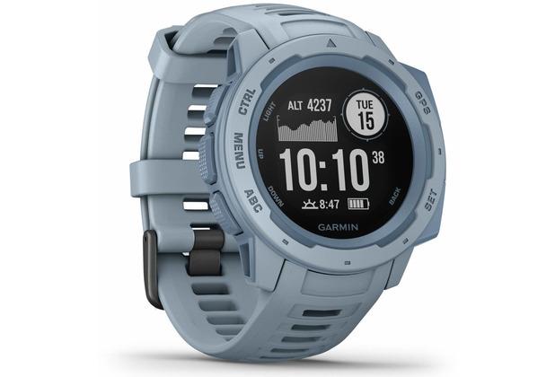 Garmin Instinct Outdoor-Smartwatch hellblau