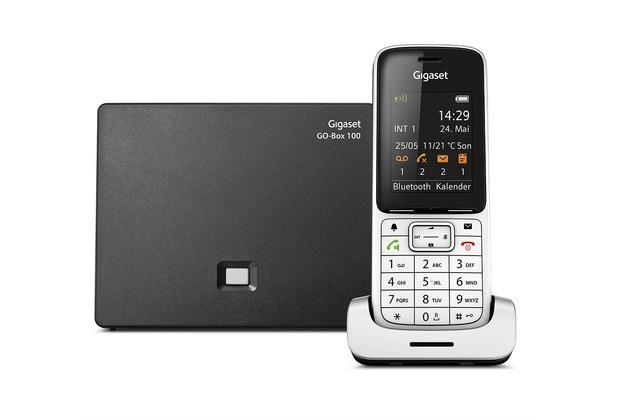 Gigaset SL450A GO, platin / schwarz