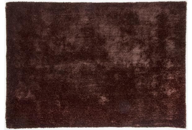 Gino Falcone Teppich Alessia Alessandro UNI 510 choco 160 x 230 cm