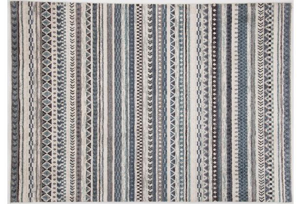 Gino Falcone Teppich Francesco 24718 655 grau multicolor 140 x 200 cm