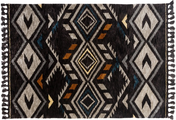 Gino Falcone Teppich Vittoria GF-014 610 schwarz multi 80 cm x 150 cm